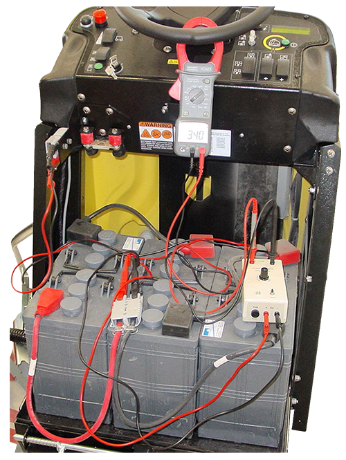 Image of the electrical system on a floor scrubber drier