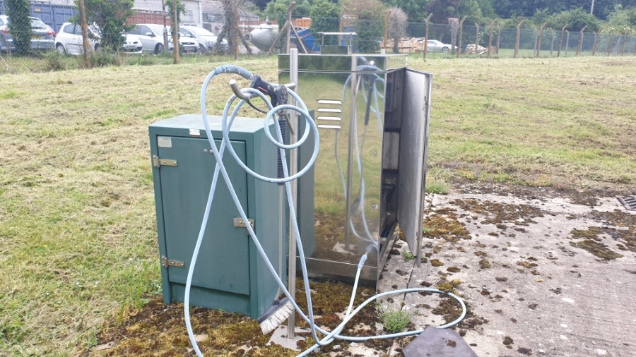 Static Hot Pressure Washer Before Hose Reels