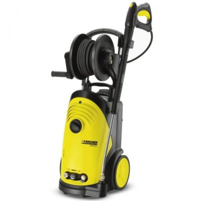 Small cold karcher pressure washer with hose reel